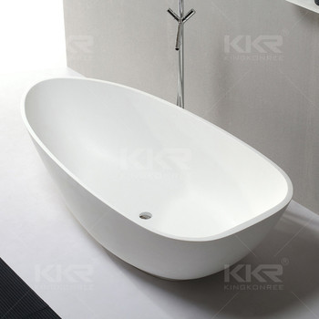 52 inch freestanding solid surface stone bathtub