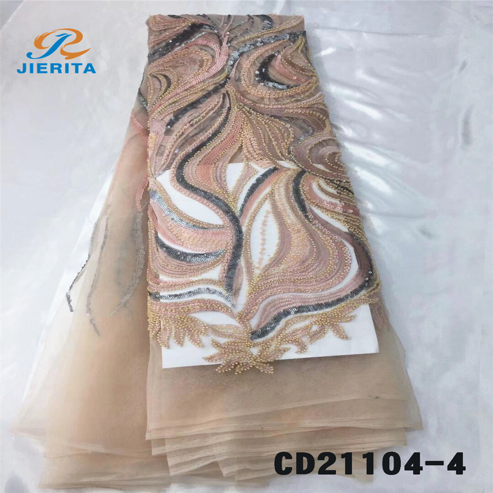 CD21104-4 Good price handmade embroidery floral wholesale price newchemical lace embroidery <strong>fabric</strong>