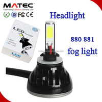 12 Volt to 24 volt high power led fog lamp 24w 880 881 led ,880 led head light bulb