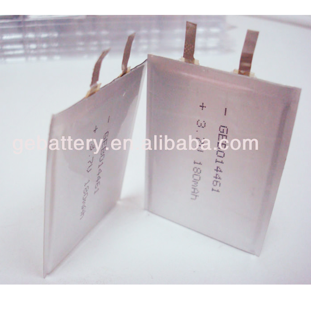 3.7V Ultra Thin Lipo battery, Thin Film Lithium Battery , Rechargeable Battery Li-ion 2800mAh