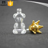 10ml cute bear glass nail polish empty bottle with crown
