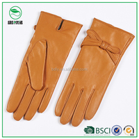 Girl dress fashion ladies genuine leather gloves