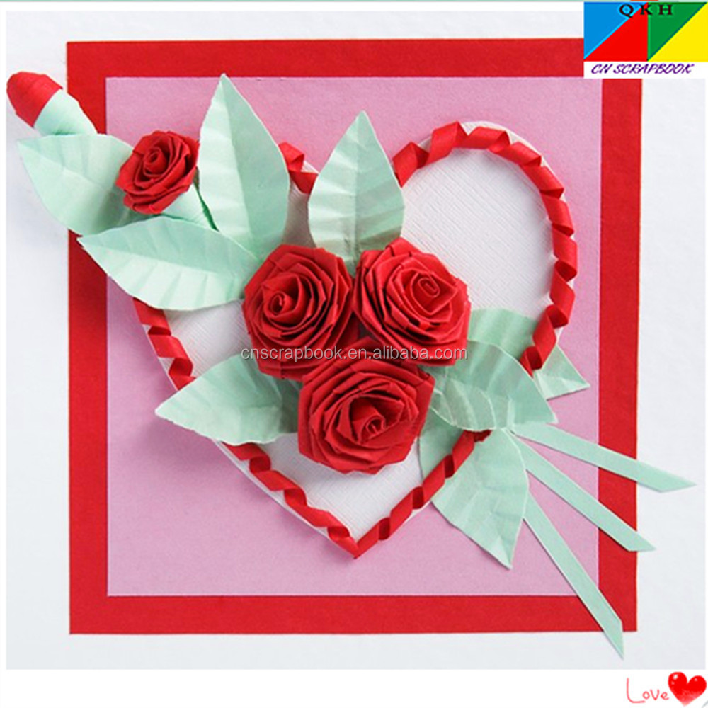 wholesale quilling paper strips / handmade quilling paper cards for ...
