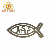 Custom Personalized New Fish Shape Metal Bookmark