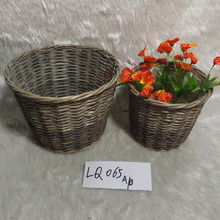 High quality garden used plastic lined wicker wire basket