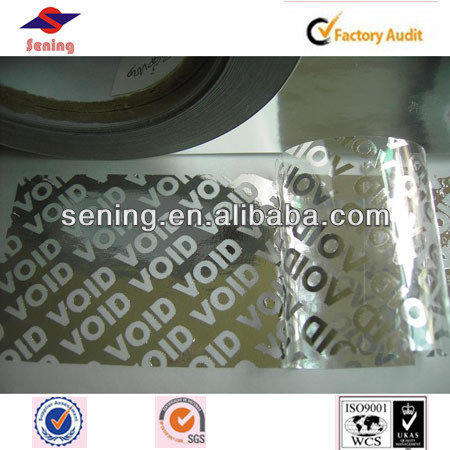 super big tamper warranty void adhesive printing label/sticker