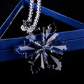 Crystal glass snowflake hanging decoration for Christmas stocking