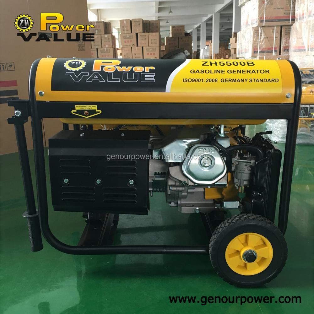 Factory Price China 4kw 4kva Gasoline Fuel Oil Generator For Household