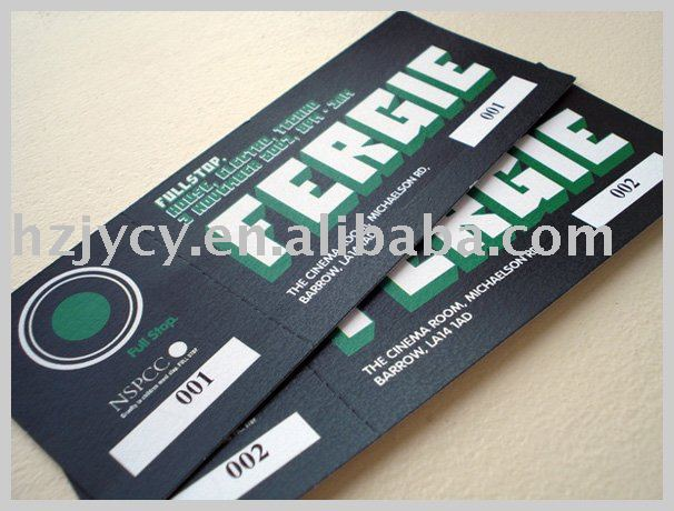 ticket card printing