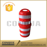 Factory outlet traffic safety facility anti-bump barrel