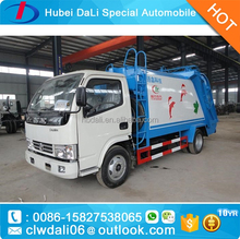 LOW PRICE Dongfeng 5CBM 4x2 mini garbage compactor truck