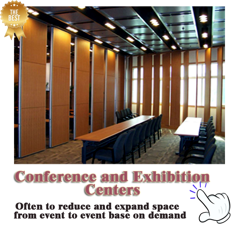 Easy To Move Operable Wall Movable Frame Partition Wall for Mosque