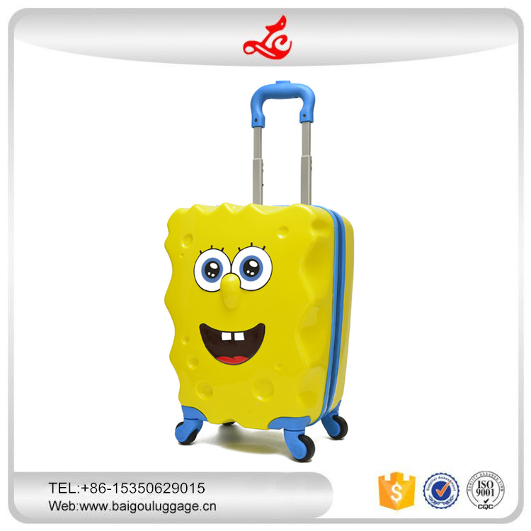 new design cartoon kid trolley luggage cute travel bag child suitcase factory supplier