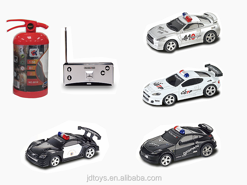 Newest Kids Toys Small Electric Racing Car 1: 58 Mini Fire Can RC Car with Music RC Toys China 8014