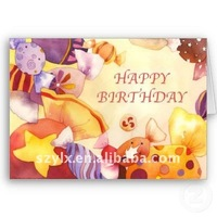 printing beautiful happy birthday greeting card