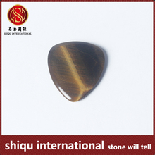 Yiwu 2016 New style guitar parts shining tiger eye stone guitar picks with your band logo guitar picks