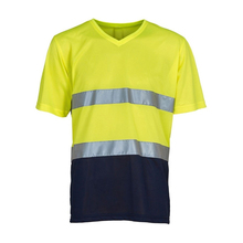 Custom design hi vis reflective tape <strong>safety</strong> polo shirts100% polyester reflective t-shirt