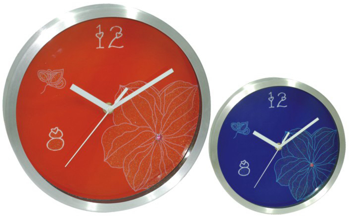 Unique new nice brief design wall clock plastic