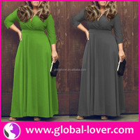 Hot style long sleeve maxi party dresses for fat girls