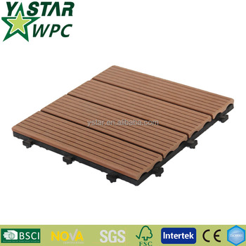 Chinese hollow wpc decking tiles with recycled materials
