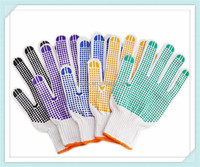 pvc dotted working industrial safety cotton gloves,pvc dotted glove