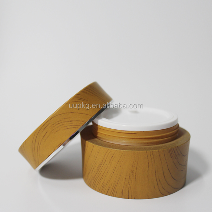 UU packaging 50ml bamboo plastic jar for cosmetic