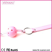 Horse shape leather belt gag toys harness belt restraint toys pink mouth gag with aye mask