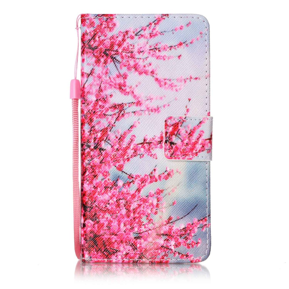 Painted Flip Case Wallet Leather Cover for Huawei honor 8 Colored Drawing flip case