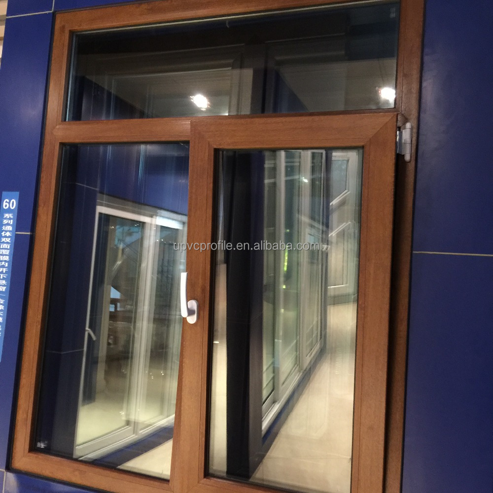 High quality wooden color PVC profile window and door