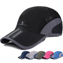 Cheap Promotional Sport Dry Fit Running Hats And Caps 100% Polyester Sports Caps
