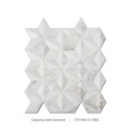 Hot Selling Diamond Design Calacatta White Mosaic Tile