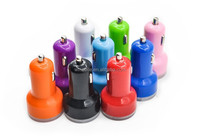 Newly Micro Auto Universal Dual USB Car Charger For all USB electric appliance 5V 2.1A/1A Mini Adapter free sample