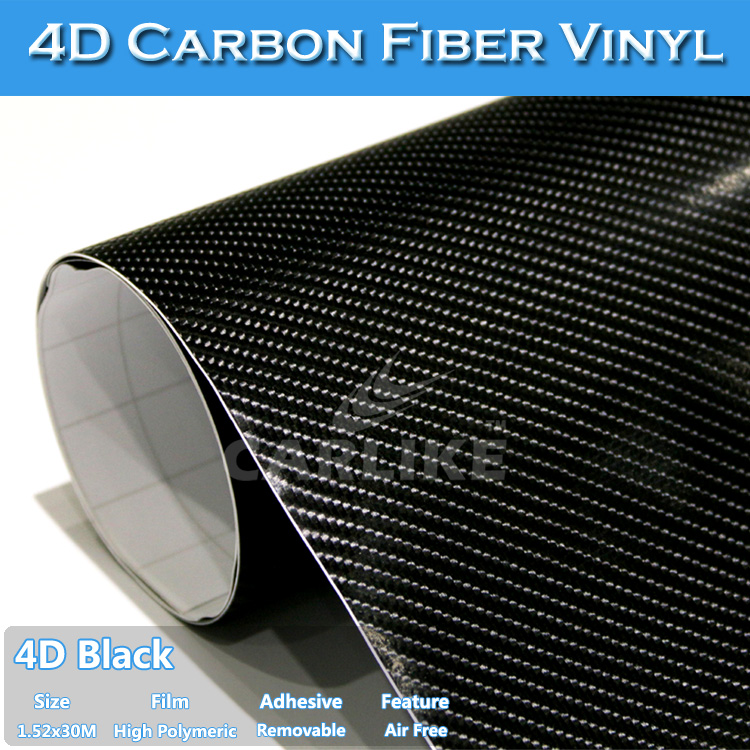 CARLIKE Wholesale 5x98FT Automotive Decals Car Vinyl 4D Carbon Fiber