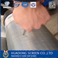 Low carbon steel Sand Control Filter Slot Screen / Water well filter slot screen/ Johnson screen