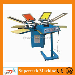 Manual 4/6/8 Color Rotary Screen Printing Machine