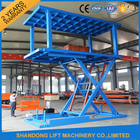 Folding vertical parking car lift tables