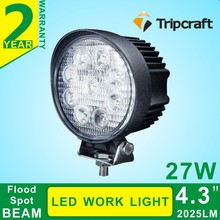 Guangzhou factory direct accessories motorcycle 27w led work light 4.3 inch led headlight