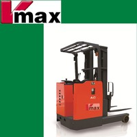 48V new Stand-on Electric Reach Forklift Truck, battery reach truck, electric lift truck