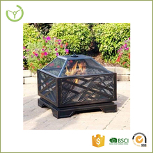 Square Outdoor Backyard Patio Metal Firepit/Garden Treasures Fire Pits