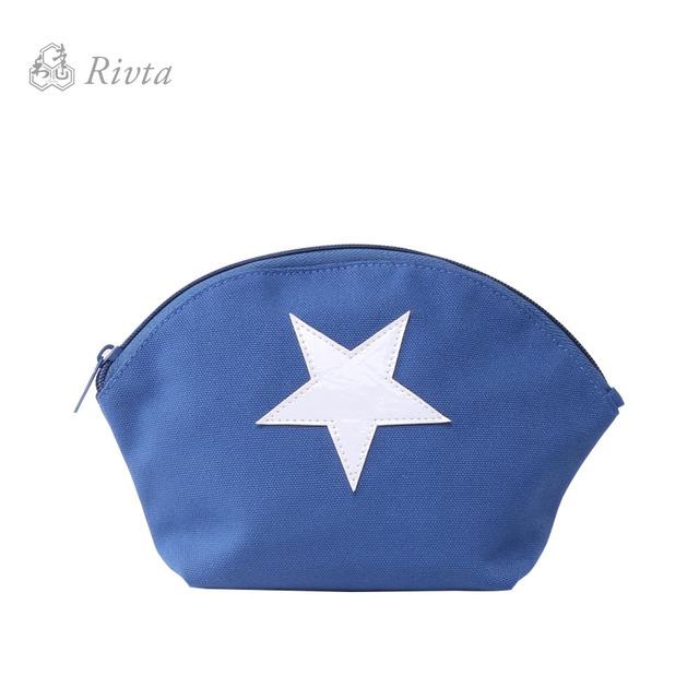 RPET Original Design Blue Small Canvas Recycle Makeup Bag Bag