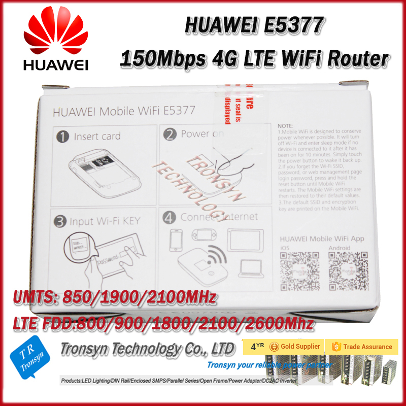 Brand New Original Unlock LTE FDD 150Mbps E5377 4G Router With Sim Card Slot