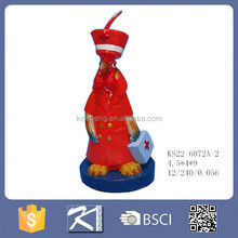 Hand made animal rooster shaped art candle wax for sale