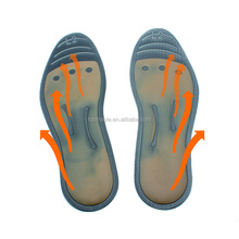Nano negative ion filled antibacterial liquid massaging insole