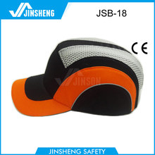 high reflect cotton impact-resistant baseball style safety bump caps