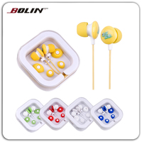Hot Promotional Earphones Stereo Wired Cheap Gift Earbuds Earpiece with box packing for Mobile MP3