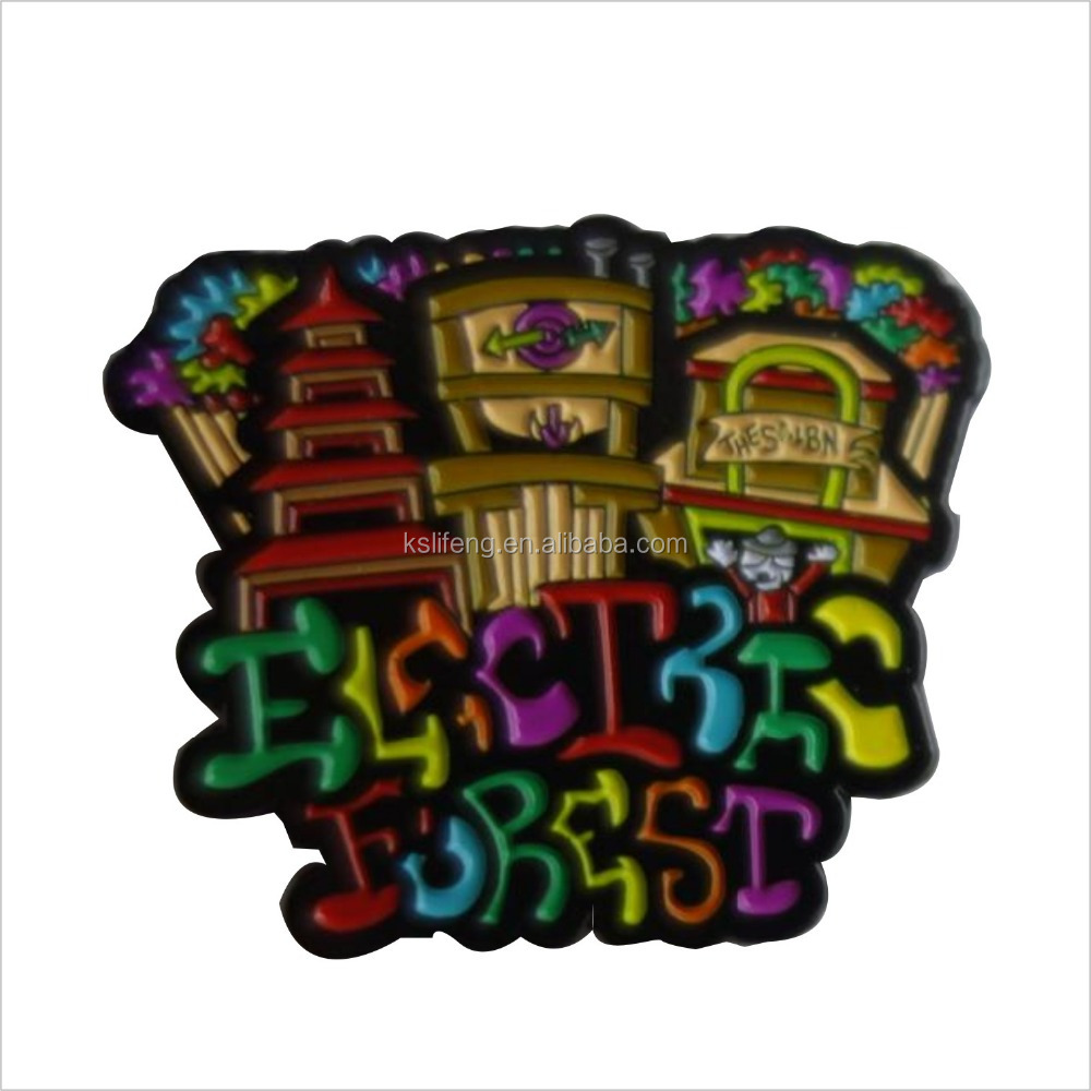 Soft Enamel lapel pin manufacturers Music Festival Pin