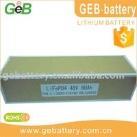 Electric cars, motors, golf cars LiFePo4 Battery Pack 48V 60AH