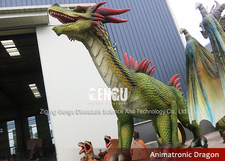 Chinese Animatronic Realistic Dragon Statue For Sale