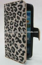 Leopard print leather mobile phone cover case for Sumsang I9300 Galaxy S 2 S2