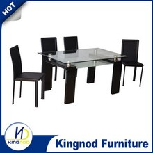 Commercial glass and mdf elegant European Dining Set